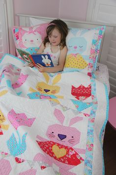 Bunny Love Quilt Pattern. - Red Brolly