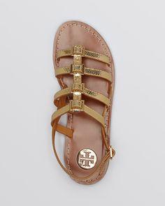 Tory Burch Flat Gladiator Sandals - Reggie | Bloomingdale's