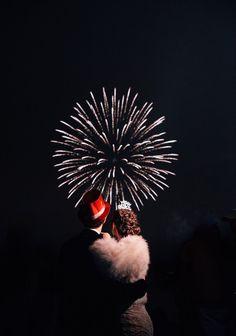 Sapphire Events | Eric James Photography | New Year's Eve Wedding | Gothic Wedding | Twilight Inspired Wedding | French Quarter Wedding | New Orleans Wedding | Pink Black Red Wedding | NYE fireworks display