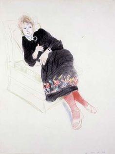 Celia Birtwell by David Hockney