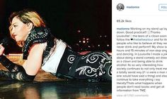 Madonna, 57, fiercely responds to accusations she was 'drunk' on stage