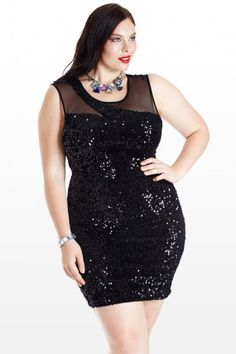 Lightning Strikes Sequin Mesh Dress Clothing, Shoes & Jewelry : Women : Clothing : Dresses : big sizes http://amzn.to/2luZtGE