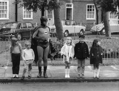"""Okay, kids, seriously now, where's the car?"" Because even Batman ages."