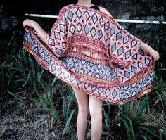 Tunic Tops – Kymonos – boho style tunic - a unique product by -Maria-Rodriguez via en.dawanda.com