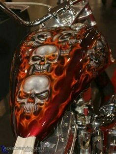 Skull paint job.