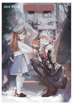 Art by 目目民民 Mystic messenger Saeran and MC Mystic Messenger Unknown, Mystic Messenger Fanart, Mystic Messenger Comic, Mystic Messenger Characters, Anime Boys, Anime Couples, Cute Couples, Jumin X Mc, Gintama