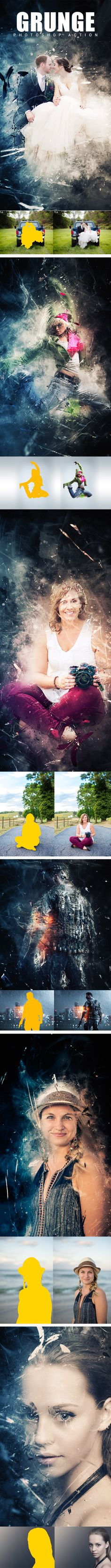 Grunge Photoshop Action. Download here: https://graphicriver.net/item/grunge-photoshop-action/17621840?ref=ksioks