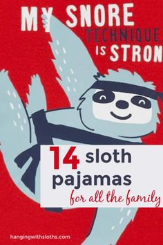 Great roundup of the best sloth pajamas available - for kids, babies, women and men! Sloth Pajamas, Girls Pajamas, Pajamas Women, Baby Sloth, Cute Sloth, Sloth Sleeping, Three Toed Sloth, Gifted Kids, Sloths