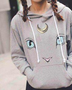 "Japanese harajuku cute cat hooded coat - Use the code ""batty"" at Cute Harajuku and Women Fashion for 10% off your order!"