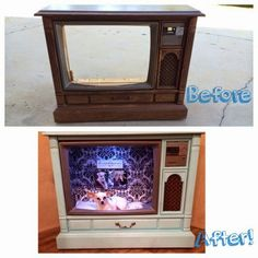 TV Console Dog Bed  Jolly Farm Journal repurposed tv console