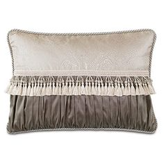 Edris Taupe Bolster - Marquise Luxury Bedding by Eastern Accents Outdoor Throw Pillows, Bed Pillows, Cushions, Lumbar Pillow, Luxury Bedding Collections, Luxury Bedding Sets, Modern Bedding, Custom Pillows, Decorative Pillows