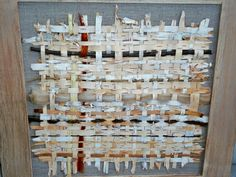 Mixed media weaving fiber wall hanging fiber art by PruVisions Birch Bark, Fiber Art, Needlework, Photo Wall, Canvas Art, Weaving, Holiday Decor, Handmade Gifts, Frame