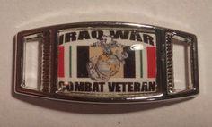 Lot of 2 United States Marine Corps IRAQI WAR COMBAT VETERAN Shoelace Charms  #ad