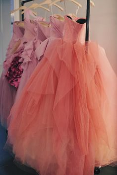 Dresses with tulle skirts