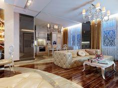 Дизайн интерьера гостиной № 209
