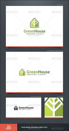 Green House Logo Template by Mangustas Green House Logo Template Description Perfect residential Green House Logo Template. This design could be used for different purpo