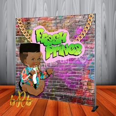Fresh Prince Baby Shower or Birthday Backdrop Personalized Step & Repe – Banners by Roz Sunflower Baby Showers, Butterfly Baby Shower, Prince Birthday Party, Prince Party, Hunting Baby Showers, Unique Baby Shower Themes, Theme Forest, Birthday Backdrop, Fresh Prince