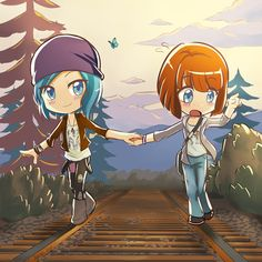 "Pricefield (Life is Strange) - ""Chloe and Max"" by kyuyoukai on @DeviantArt"