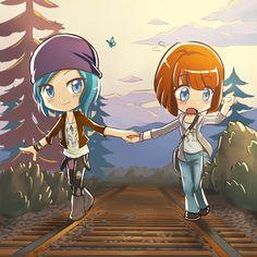 http://yuri-haven.deviantart.com/art/Life-is-Strange-Chloe-and-Max-570595559