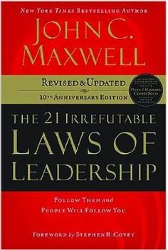 Maxwell combines the insights learned from his 40-plus years of leadership successes and mistakes with observations from the worlds of business, politics, sports, religion, and military conflict. The result is a study of leadership.  Cote: 4-11 MAX