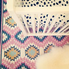 Mix of patterns + textures in the nursery = #nursery #love
