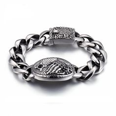 Praying Hands with Rosary Chain Links Stainless Steel Bracelet Men's religious bracelet - Praying hands bracelet - Thick link bracelet Material: stainless steel Size: Length: Bracelets For Men, Link Bracelets, Jewelry Bracelets, Chain Bracelets, Hand Bracelet, Bracelet Making, Stainless Steel Jewelry, Wholesale Jewelry, Metal Jewelry
