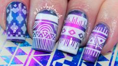 Whoa. This is an art project but I love the resulting look! Aztec Galaxy Nail Art  Click image for the video tutorial