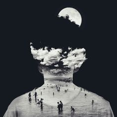 Double Exposure Photography by Yaser Almajed Double Exposure Photography, White Photography, Portrait Photography, Photomontage, Collages, Collage Art, Illustration Arte, Multiple Exposure, Computer Art