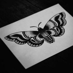 ... Tattoos   Pinterest   Moth Tattoo Traditional Moth Tattoo and Tattoo