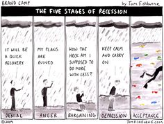 the five stages of recession