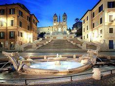 The Spanish Steps Trinità dei Monti Rome, Italy