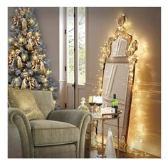 """""""Christmas Corner"""" by debraelizabeth ❤ liked on Polyvore featuring interior, interiors, interior design, home, home decor and interior decorating"""