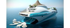 Concept yacht complete with volcano.
