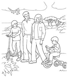 free lds clipart to color for primary children lds coloring pages - Lds Primary Coloring Pages Prayer