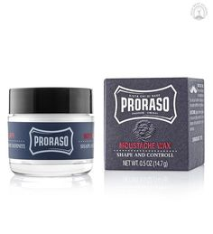 "Proraso Moustache Wax, ""Shape and Control"" - The Emporium Barber, Beard and Facial Products for Men Mustache Wax, Mustache Styles, Moustaches, Beard Wax, Men Beard, Types Of Beards, Beard Quotes, Beard Company, Allure Beauty"