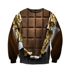 Beloved Shirts Gold Foil Chocolate Unisex Sweatshirt This is taking Chocolate abs to a whole new level!