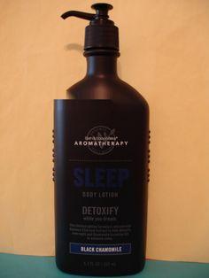 Bath and Body Works     1 New Large Full Size 6.5 oz Glass Pump Bottle of Aromatherapy Black Chamomile Sleep Lotion.