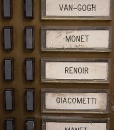 """""""Doorbell signs in Montmartre Art District, Paris."""""""