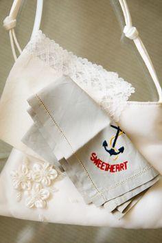 Sweetheart Embroidered Handkerchief | Brian Dorsey Studios | TheKnot.com