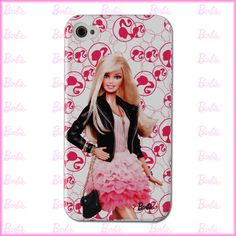 Genuine Barbie Doll Design iPhone 4 / 4S Case Cover Under License From Mattel #1