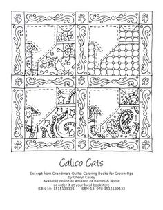 Free Coloring Page To Print Excerpt From The Book Grandmas Quilts Books For