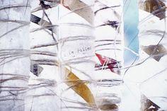 ULTIMA THULE 96, linnen thread, linnen paper.