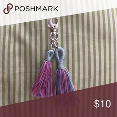 Tassel Keychain Handmade tassel keychain --> pastel blue, purple, pink, orange. Not Lilly Pulitzer using for exposure Lilly Pulitzer Accessories Key & Card Holders