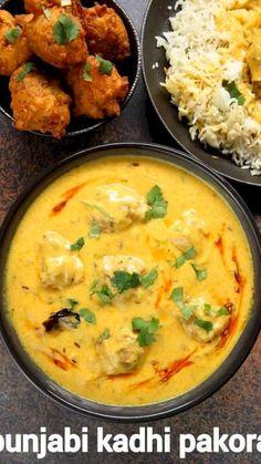 Recipe For Kadhi, Chaat Recipe, Biryani Recipe, Recipe Recipe, Indian Dal Recipe, Kadi Recipe, Pakora Recipes, Veg Recipes, Spicy Recipes
