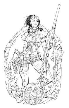 Lady Mechanika Cover 0 Inks by devgear on deviantART