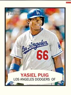 Topps Bunt Heritage Yasiel Puig Los Angeles Dodgers Only 900 Exist | eBay