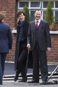 The Holmes Brothers! (Filming of series 3, April, 2013.)