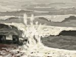 Danny Mooney 'Beach, 21/2015' iPad painting #APAD
