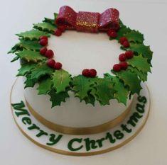 Jesus' Birthday Cake for Christmas Day Christmas Cake Designs, Christmas Tree Cake, Christmas Cake Decorations, Holiday Cakes, Christmas Gingerbread, Easy Christmas Treats, Christmas Deserts, Vegan Christmas, Christmas Cooking