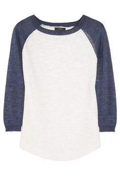 Baseball-style sweater from J.Crew